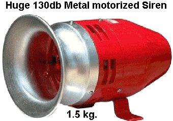 Andeli Huge Siren 130db Metal motorized Siren 240V